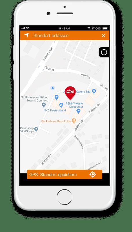 Unfallschaden App GPS Erfassung